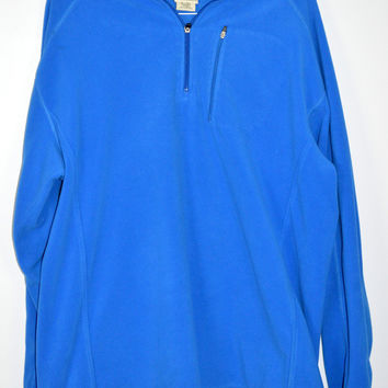 LL Bean Mens 1/4 Zip Pullover Fleece Jacket Size XL Tall