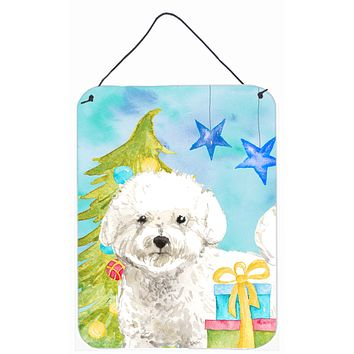 Christmas Tree Bichon Frise Wall or Door Hanging Prints CK1888DS1216