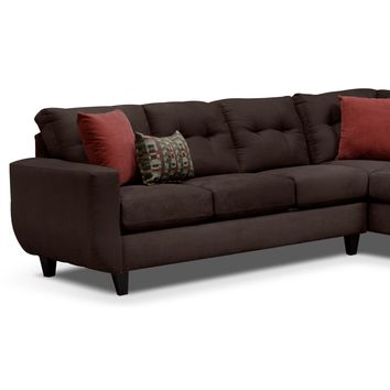 West Village Chocolate II 2 Pc. Sectional