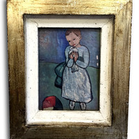 Vintage Art Wood Frame Small Picasso Print