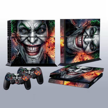Joker Vinyl Decal Skin For playstation 4 Console +2Pcs Stickers For ps4 Controllers