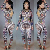 Colorful Long-Sleeved Jumpsuit