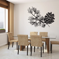 Pine Cone Vinyl Wall Decal Sticker Graphic