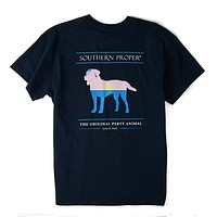 Sunset Party Animal Tee in Blueberry by Southern Proper