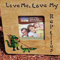 Reptile Lover Picture Frame - Lizard Pet