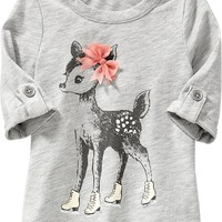 Chiffon-Bow Graphic Tunic for Baby