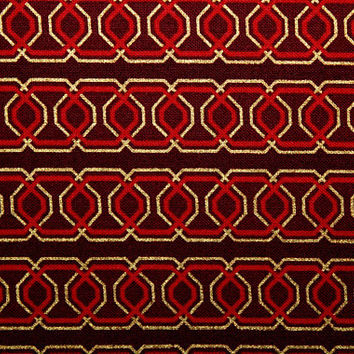 Cotton Fabric, Christmas Fabric, Red and Gold, Quilting Fabric, Sewing Fabric, Benartex Fabrics, Crafting Fabric,  Fabric Shops, By The Yard