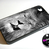 Funny Lion Face iPhone 4S Case Hard Plastic