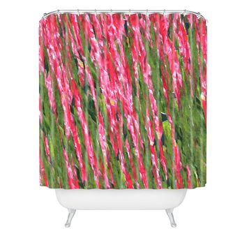 Rosie Brown Red Red Wine Shower Curtain