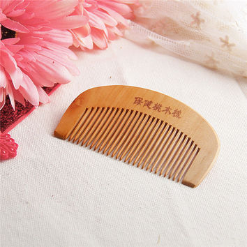 Most Popular Natural Wide Tooth Peach Wood No-static Massage Hair Mahogany Comb NEW wood Material massaging your hair Anne