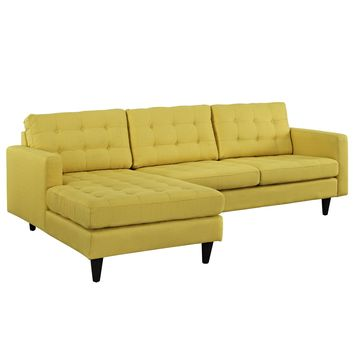 Empress Left-Facing Upholstered Sectional Sofa