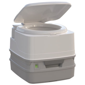 Thetford Porta Potti 260P Marine Toilet with Piston Pump, Level Indicator, and H