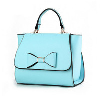 Candy color leather material ladies bowknot handbag luxury handbag designer fashion cross bag cheap women bag Wings shoulder bag-in Top-Handle Bags from Luggage & Bags on Aliexpress.com | Alibaba Group