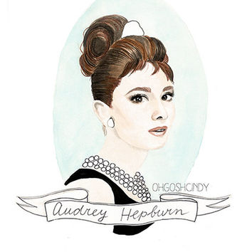 Audrey Hepburn in Breakfast at Tiffany's by ohgoshCindy on Etsy