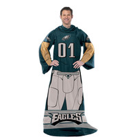 Philadelphia Eagles NFL Uniform Comfy Throw Blanket w- Sleeves
