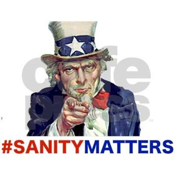 UNCLE SAM #SANITYMATTERS YARD SIGN