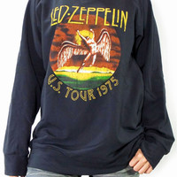 LED ZEPPELIN U.S. Tour 1975 The Legend Hard Rock Music T-Shirt Long Sleeve Sweater Unisex Shirt Women Shirt Men Shirt