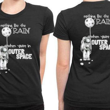 5sos Outer Space Lyrics 2 Sided Womens T Shirt