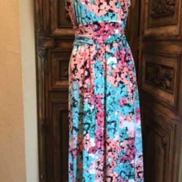 Maxi Dress Floral Hydrangea Flowers BEAUTIFUL