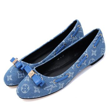 Louis Vuitton LV Women Fashion Slip-On Flats Shoes