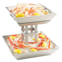 12.75W x 12.75D x 11.5H 2 Tier Aluminum Ice Display