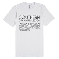 Southern Grammar Lesson-Unisex White T-Shirt