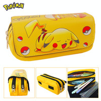 2016 Cartoon Pencil Pen Case Pokemon Gravity Falls Totoro Dragon Ball Zelda Adventure Time Cosmetic Makeup Coin Pouch Zipper Bag