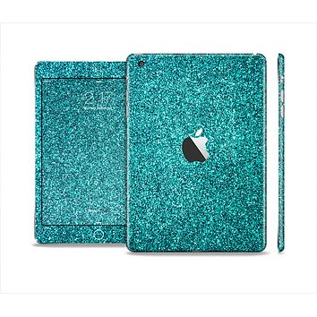 The Teal Glitter Ultra Metallic Skin Set for the Apple iPad Mini 4