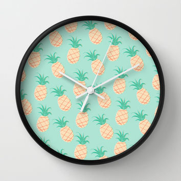 Pineapple Wall Clock by Sibylline