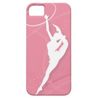 Silhouette of a female gymnast performing with a iphone 5 cases from Zazzle.com