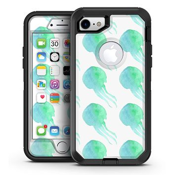 Seamless WaterColor Jellyfish - iPhone 7 or 7 Plus OtterBox Defender Case Skin Decal Kit