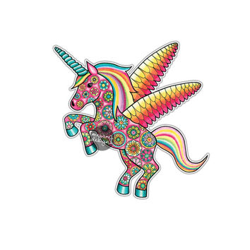 Unicorn Sticker -Colorful Multicolor Cute Car Decal Laptop Decal Wall Art Car Sticker Rainbow Magical Flower Unicorn Art Yeti Decal Pink