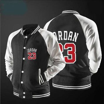 Highest quality Jordan 23 Set Hip Hop jacket spring men's Jacket uniform Keep warm DIY