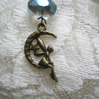 Bronze Colored Moon Fairy Earrings