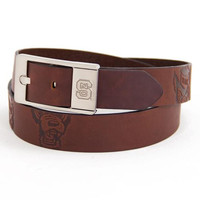 North Carolina State Wolfpack NCAA Brandish Leather Belt Size 42