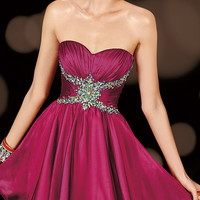 Short Strapless Homecoming Dress by Alyce