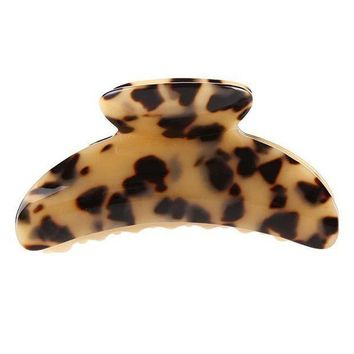 10cm Long Hot Sale High Quality Fashion Leopard Print Cellulose Acetate Hair Claw Clips Women Big Size Hair Accessory Clip