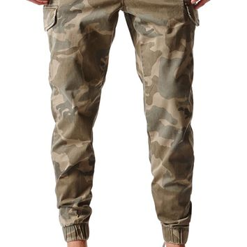 Bullhead Denim Co Dillon Skinny Cargo Jogger Pants - Mens Pants - Camo