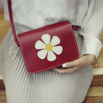 New Fashion Women Sunflower Print Shoulder Bag Leather Messenger Hobo Bag Satchel Tote Purse Handbag Gift