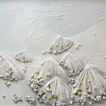 Limpets Painting - Seashells on the Seashore Textured Abstract String Art - Made to Order