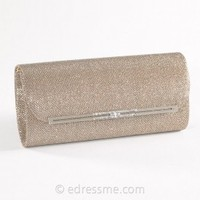 Metal Bar Flap Clutch by Camille La Vie