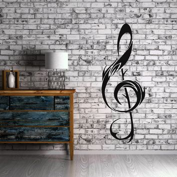 Clef Music Notes Rock&Roll  Positive Mural  Wall Art Decor Vinyl Sticker Unique Gift z654