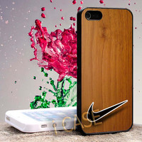 nike wood Hard cover plastic for iphone 4, iphone 5, samsung s3 i 9300, samsung s4 i 9500