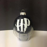 Harry Potter inspired ornament, HP, Christmas ornament, Christmas ball