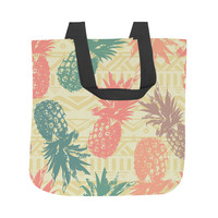 Pineapple on Tribal Tote Bag