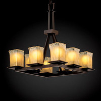 Justice Design Group GLA866626GLDCDB Veneto Luce Montana Eight-Light Dark Bronze Ring Chandelier
