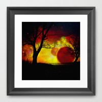 red planet Framed Art Print by Haroulita
