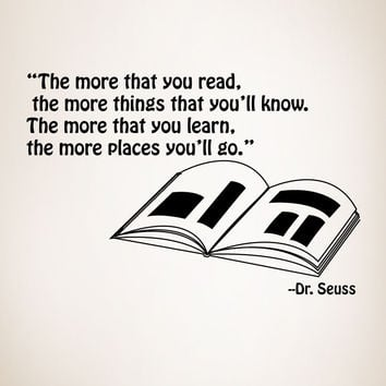 Vinyl Wall Decal Sticker Dr. Seuss Quote #OS_MG249