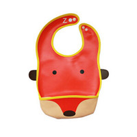 Waterproof&Leakproof Baby Bibs, Unisex, red fox