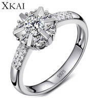 Wedding rings for women platinum plated vintage bague Engagement CZ diamond Jewelry women rings fashion Accessories gift XKR033